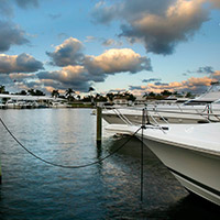 Our beautiful Boca Raton marina offers a breathtaking view.